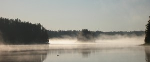 Morning fog on Karl Lake