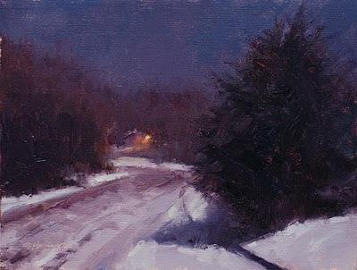 """January Moonlight,"" by Marc Hanson (painted last night, too!)"