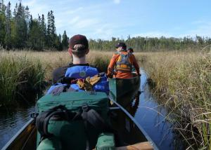 Navigating a bog in the BWCAW