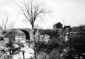 Old Stone Bridge, photo circa 1940, Minnesota Historical Society