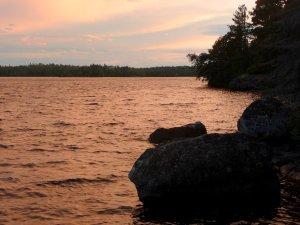 Sunset on Birch Lake
