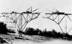 The Soo Line High Bridge on the St. Croix River, under construction in 1911