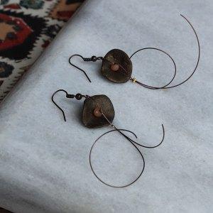 Bronze σκουλαρίκια από cernit