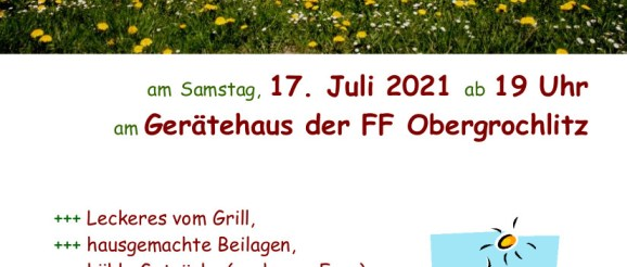 Sommer-Grillabend der Feuerwehr Obergrochlitz