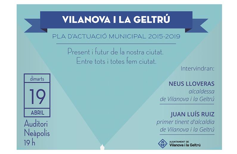 Presentació Pla d'Actuació Municipal 2015-2019