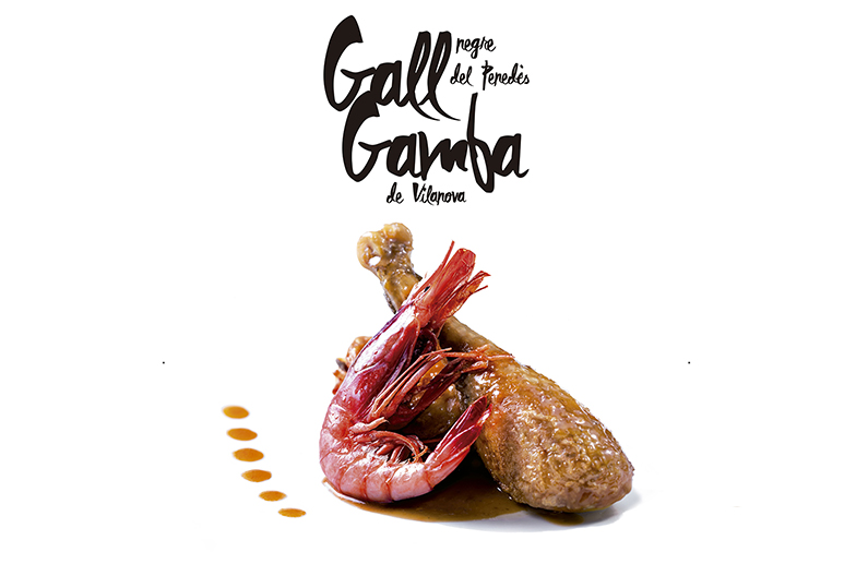 Plat de Festa Major: Gall Negre del Penedès & Gamba de Vilanova