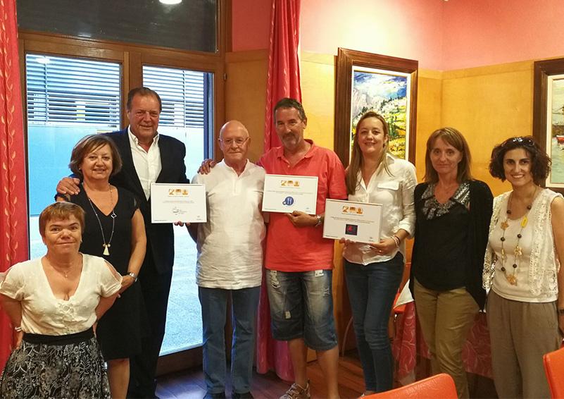 Homenatge de la FIHR als Gremis d'Hostaleria de Sitges, Vilanova i Castelldefels