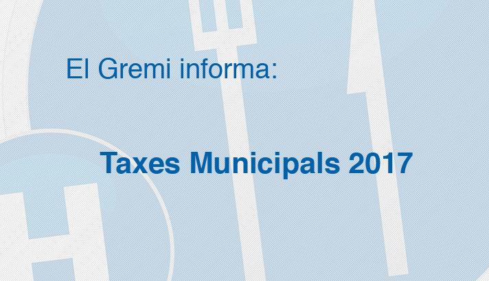 Taxes Municipals 2017