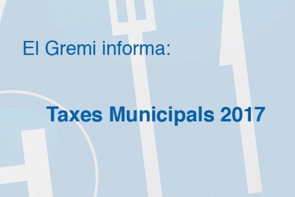 Taxes Municipals 2017 Vilanova i la Geltrú