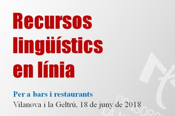 Recursos lingüístics en línia per a bars i restaurants