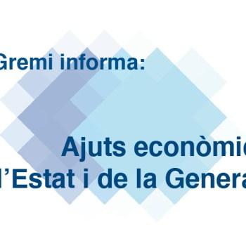 Ajuts econòmics de l'Estat i de la Generalit