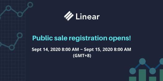 【快訊】Linear.finance(LINA)將於今日上午8點開放公售註冊