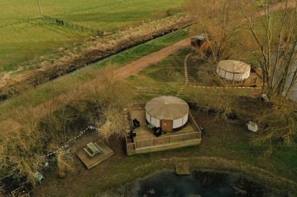 luxury camping yurt at grendon lakes