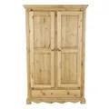 armoire rustique en pin massif 2 portes 1 tiroir farmer