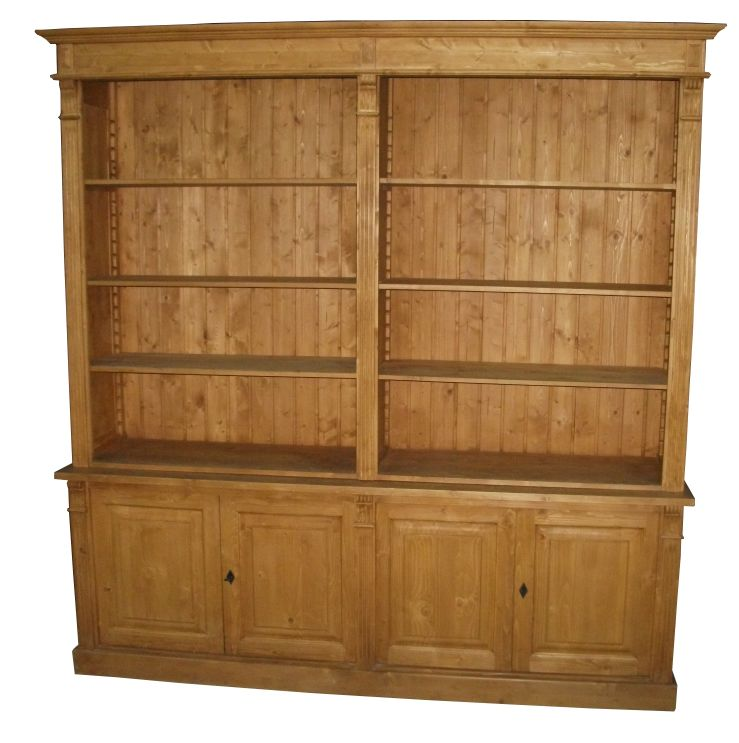 bibliotheque pin massif style directoire