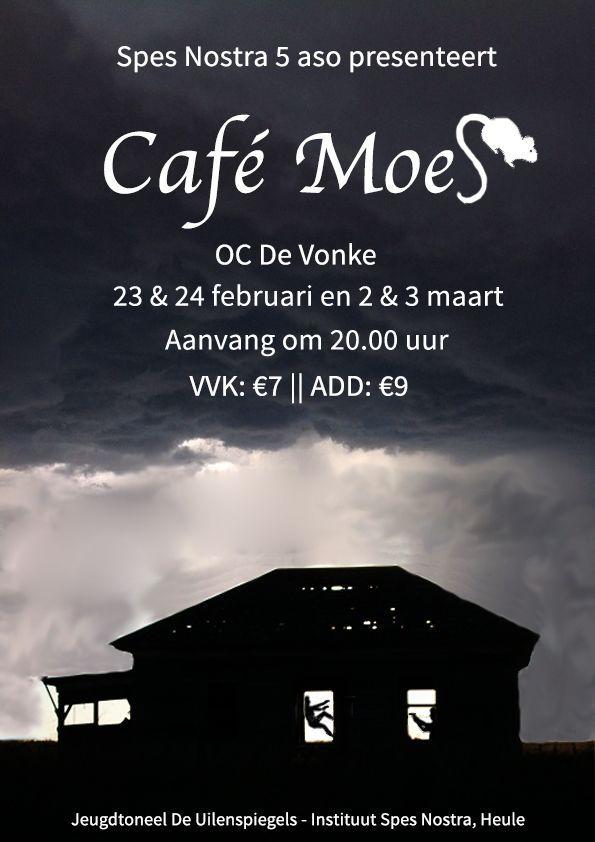 Toneelvoorstelling 'Café Moes' door leerlingen 5 aso Instituut Spes Nostra Heule