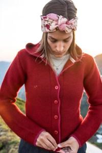 Strickjacke Emma von Grenzgang Südtirol Allgäu Slow Organic Fair Fashion