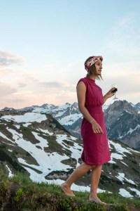 Kleid Fiona von Grenzgang Südtirol Allgäu Slow Organic Fair Fashion