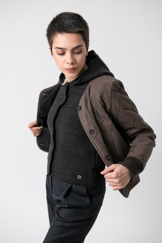 Steppjacke Anja von Grenzgang Slow Organic Fashion