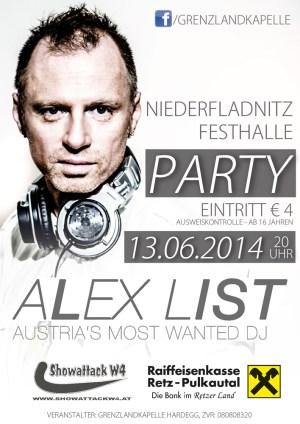 Alex List Flyer