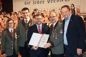 38. Neujahrskonzert der Waldviertler Grenzlandkapelle der Stadtgemeinde Hardegg iam 7. Jänner 2018 in Langau