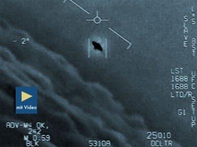 "Standbild aus dem sog. ""Gimbal""-Video Copyright/Quelle: To The Stars Academy, US Navy"