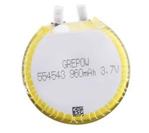 Grepow 3.7V 960mAh LiPo Round Shaped Battery 5545043