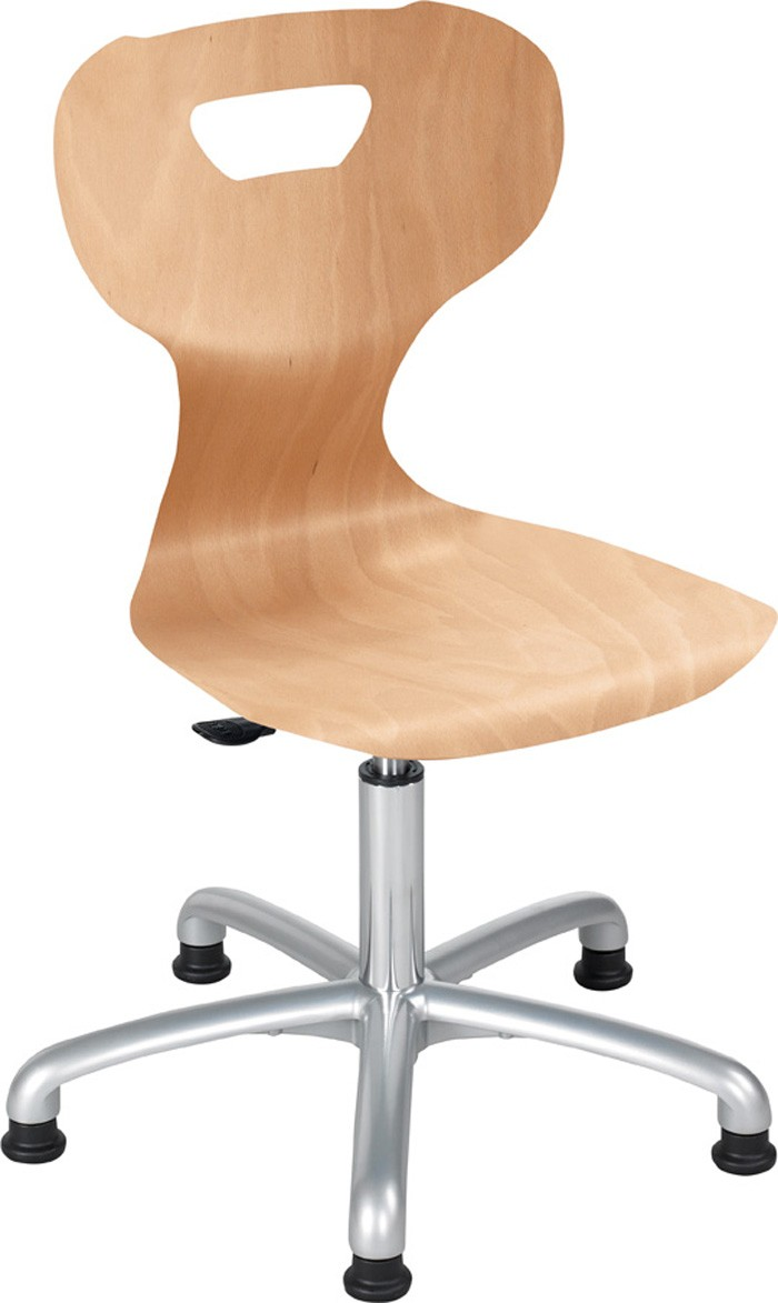 solitsit HeightAdjustable Active Swivel Wood Chair by