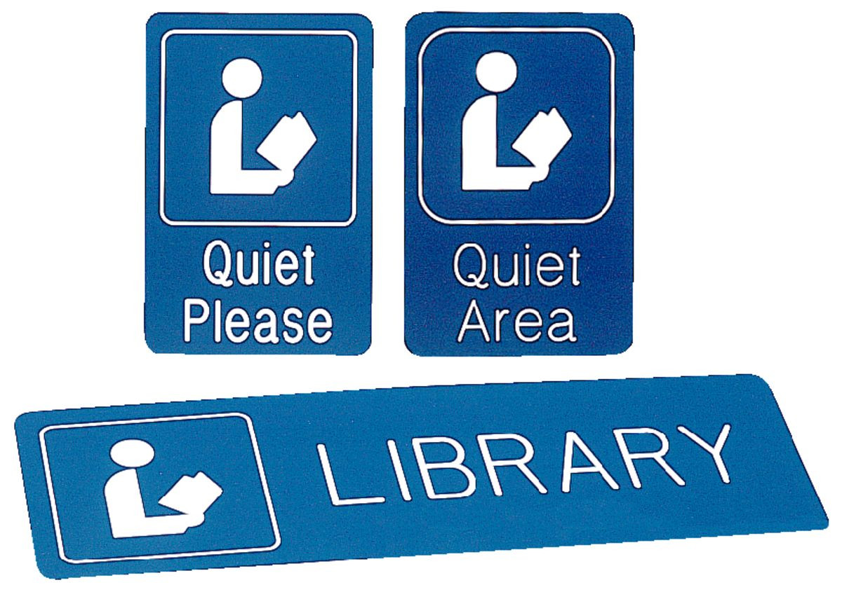 Image result for library quiet please