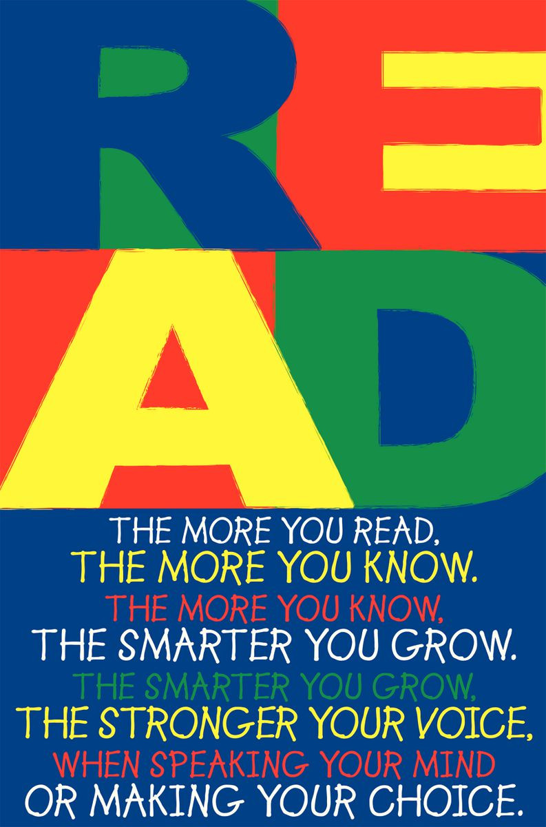 The More You Read Poster and Bookmarks  Gresswell