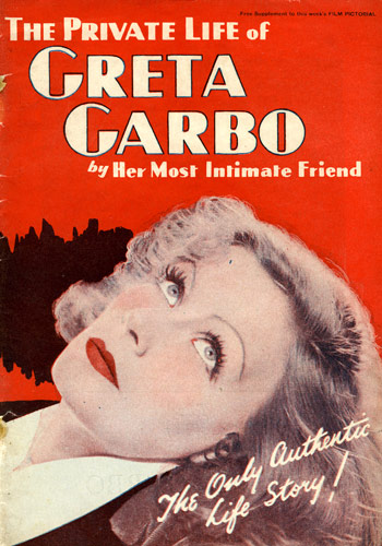 The Private Life of GRETA GARBO by Her Most Intimate Friend