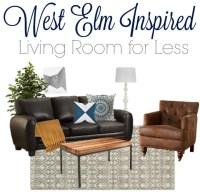 Modern and Chic Living Room Look   West Elm Copycat Look ...