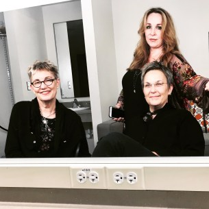backstage, Tobin Center, 22 September 2018 with Eliza Gilkyson & Mary Gauthier
