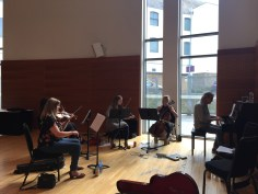 rehearsal with the Southern Fried String Quartet, Southern Fried Festival, Perth Concert Hall, Perth, Scotland 28 July 2018