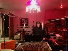 Barry Walsh playing vibes at Cinderella Studio