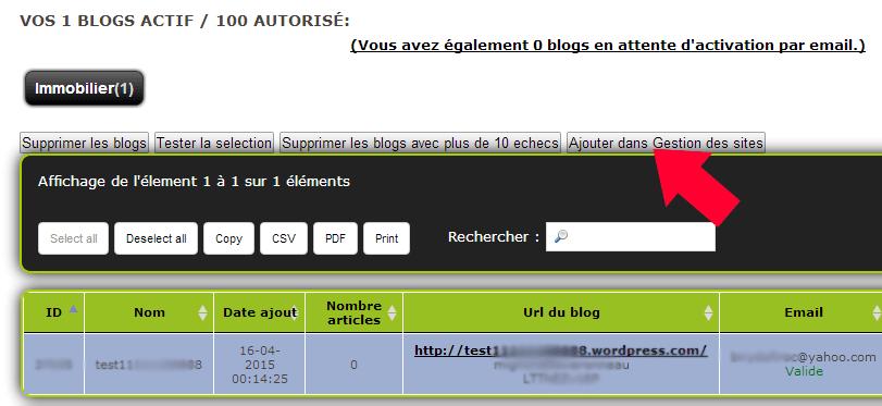 blog gestion site
