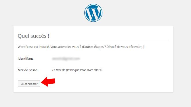 connection wordpress