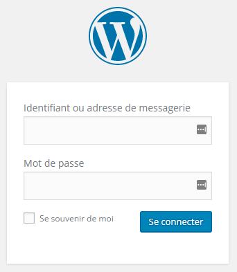 connexion tableau de bord wordpress