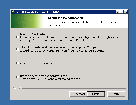 notepad installer