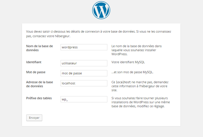wordpress base donnee