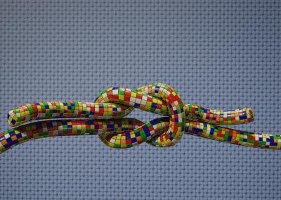 Rubik's Cube Square Knot