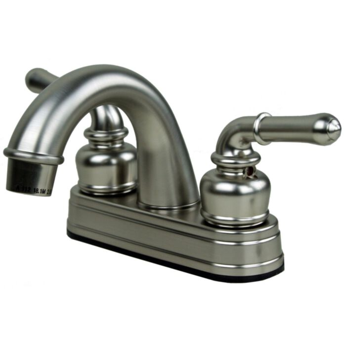 ultra faucets uf08343c rv mobile home centerset bathroom sink faucet in brushed nickel