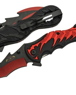 5″ DRAGON TAIL FOLDING KNIFE (RED) – SPRING ASSIST