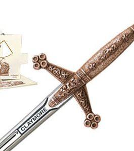 Miniature Claymore Sword (Bronze) by Marto of Toledo Spain