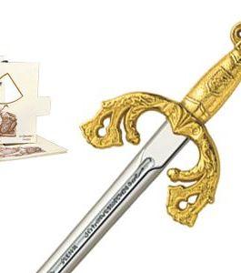 Miniature El Cid Campeador Tizona Sword (Gold) by Marto of Toledo Spain