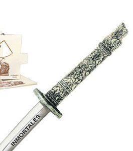 "Miniature ""Highlander"" Dragon Samurai Katana Sword (Silver) by Marto of Toledo Spain"