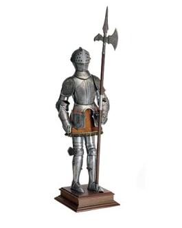 Miniature 16th Century Spanish Suit of Armor with Halberd by Marto of Toledo Spain