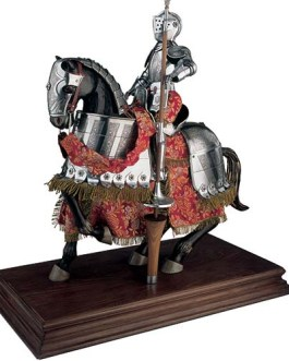 Mounted Spanish Knight of the 16th Century in Suit of Armor by Marto of Toledo Spain