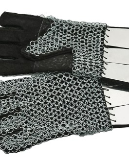 CHAINMAIL GAUNTLET W/PLATE
