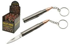 12-PC DISPLAY 30-06 BULLET KEYCHAIN KNIFE